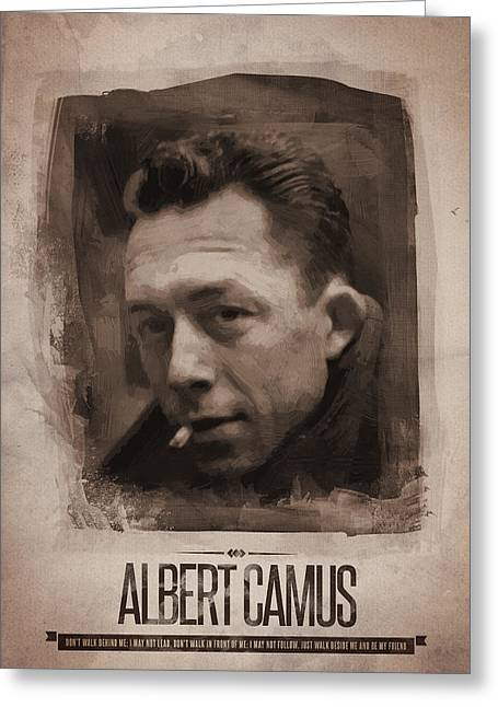 Albert Camus 02 Greeting Card by Afterdarkness