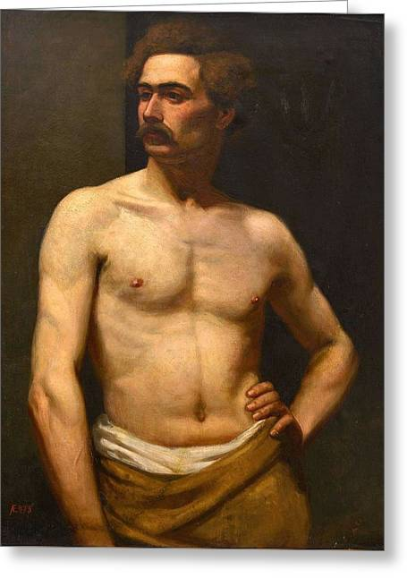 Albert Edelfelt Male Model Greeting Card