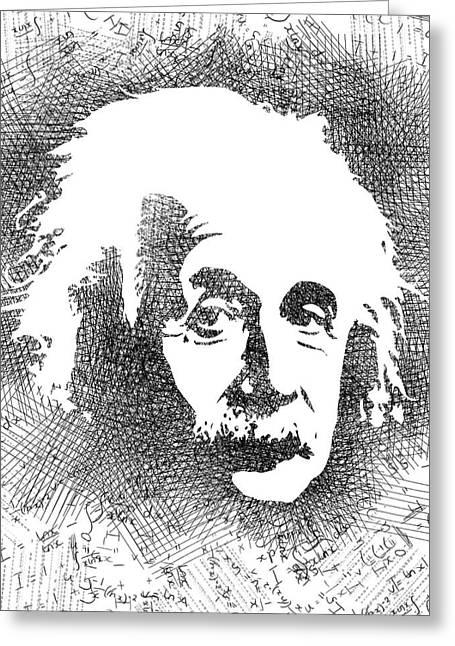 Albert Einstein Bw  Greeting Card