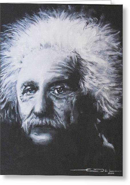 Albert Einstein Greeting Card by Eric Dee