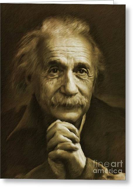 Albert Einstein, Legend Greeting Card
