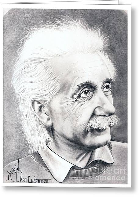 Albert Einstein  Greeting Card by Murphy Elliott