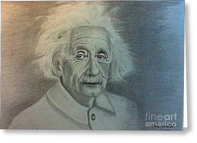 Albert Einstein Portrait Greeting Card