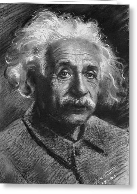 Ylli Haruni Greeting Cards - Albert Einstein Greeting Card by Ylli Haruni