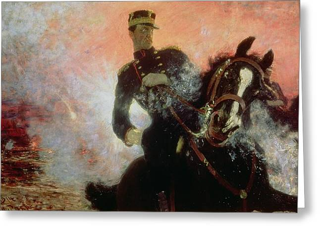 Wwi Paintings Greeting Cards - Albert I King of the Belgians in the First World War Greeting Card by Ilya Efimovich Repin