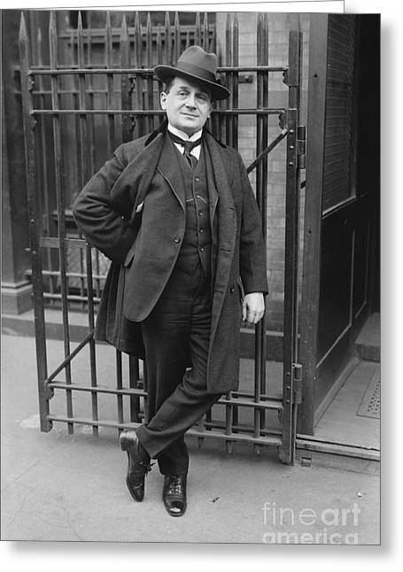 Albert Reiss At The Stage Entrance Of The Metropolitan Opera Greeting Card