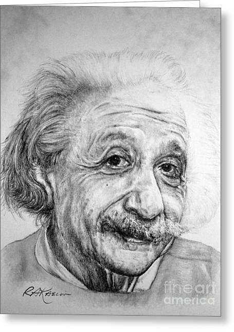 Albert Greeting Card by Roy Anthony Kaelin