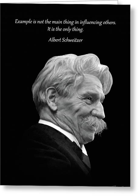 Albert Schweitzer Portrait Greeting Card