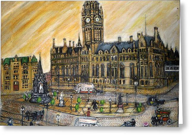 Albert Square Manchester 1900 Greeting Card