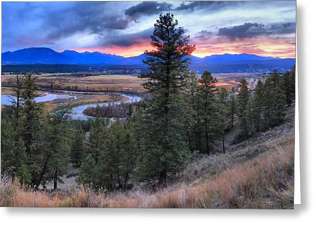 Alberta Columbia Wetlands Panorama Greeting Card by Adam Jewell