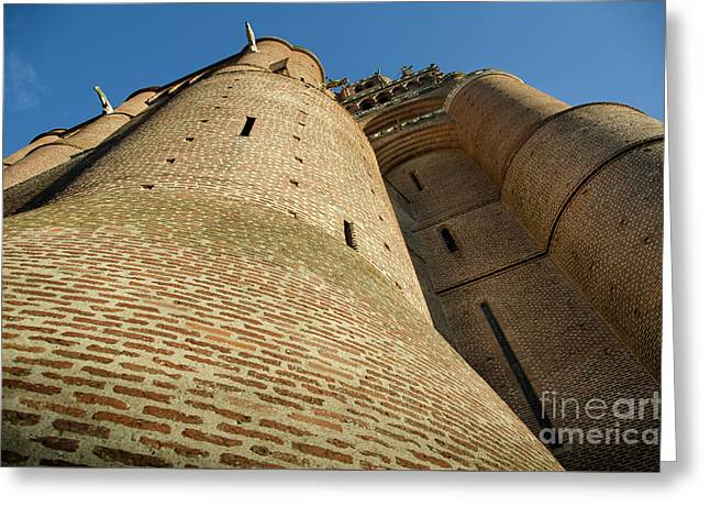 Albi Cathedral Low Angle Greeting Card