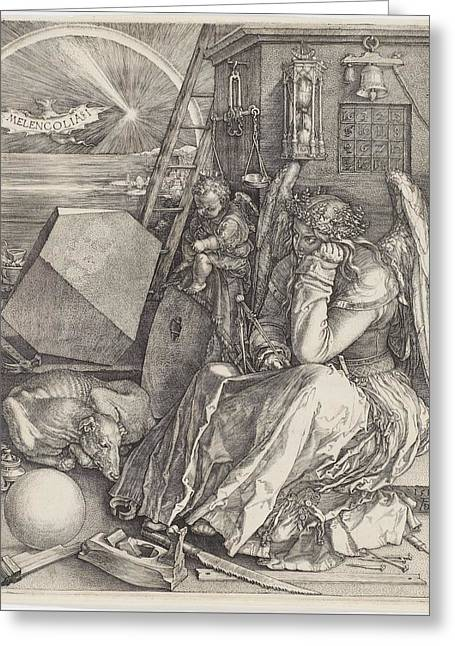 Albrecht Drer, Melencolia I Greeting Card by Celestial Images