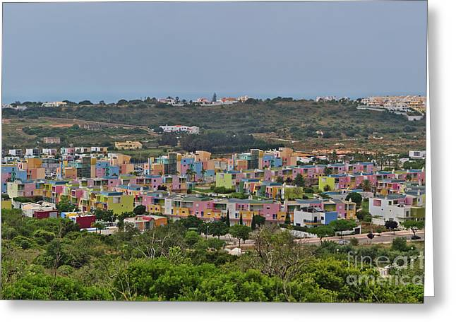 Albufeira Marina View Greeting Card