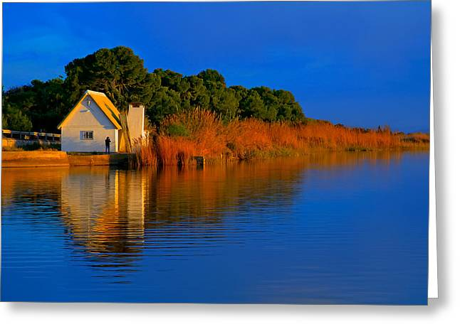 Albufera Blue. Valencia. Spain Greeting Card