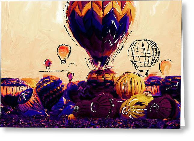 Albuquerque International Balloon Fiesta 252 2 Greeting Card by Mawra Tahreem