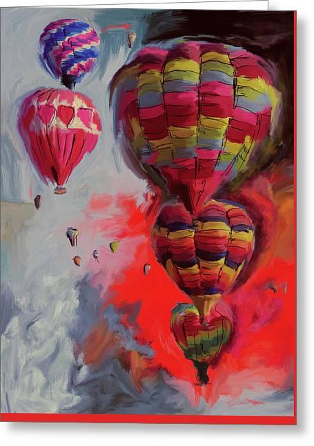 Albuquerque International Balloon Fiesta 4 255 2 Greeting Card by Mawra Tahreem