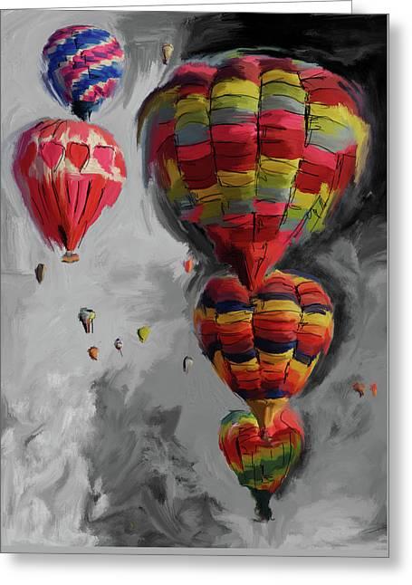 Albuquerque International Balloon Fiesta 4 255 4 Greeting Card by Mawra Tahreem
