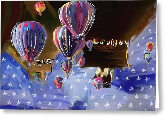 Albuquerque International Balloon Fiesta 5 256 1 Greeting Card by Mawra Tahreem