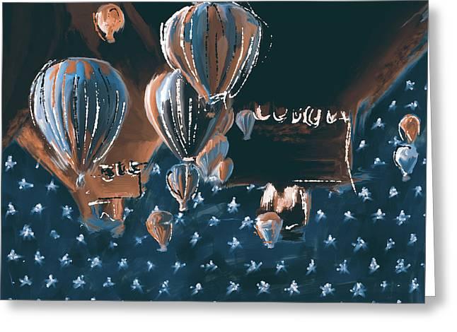 Albuquerque International Balloon Fiesta 5 256 2 Greeting Card by Mawra Tahreem