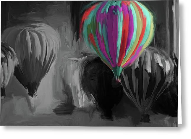 Albuquerque International Balloon Fiesta 5 257 4 Greeting Card by Mawra Tahreem