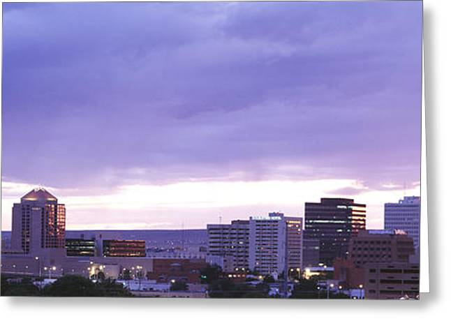 Albuquerque Nm Greeting Card by Panoramic Images