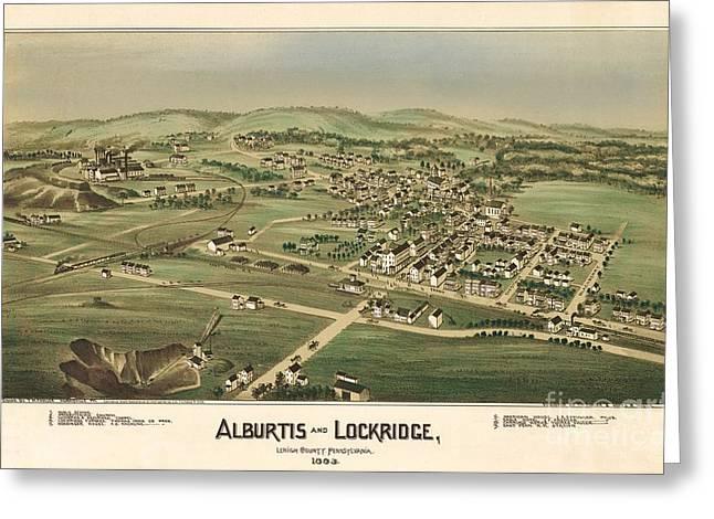 Alburtis And Lockridge Pennsylvania Birdseye Print Greeting Card