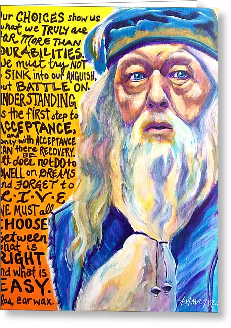 Albus Greeting Card by Alicia VanNoy Call