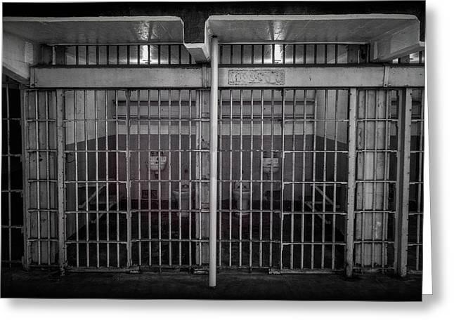 Alcatraz Cell Block Greeting Card