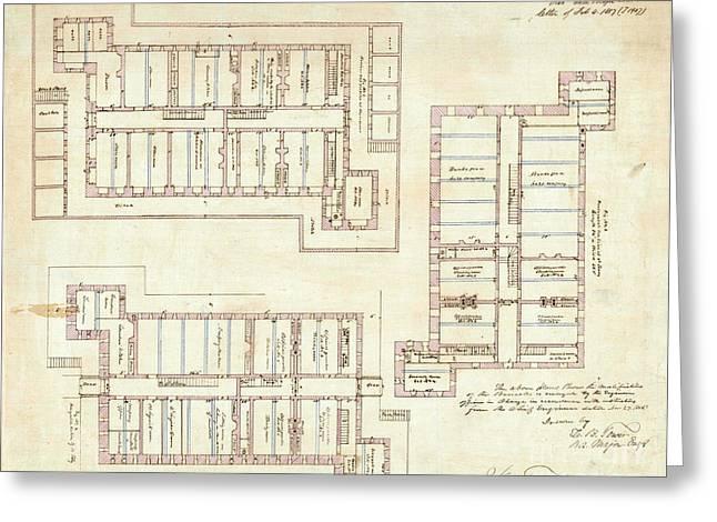 Alcatraz Citadel Drawing 1857 Greeting Card