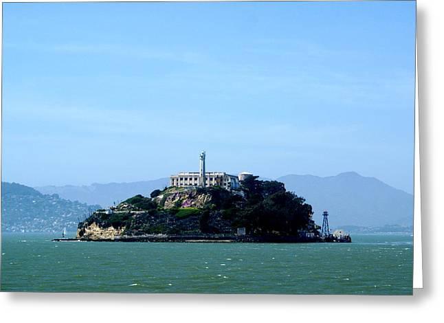 Alcatraz Island Greeting Card by Sonja Anderson