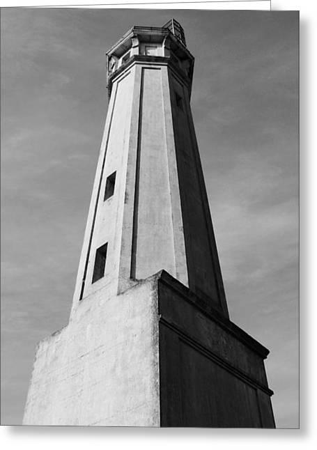 Alcatraz Lighthouse Greeting Card by Darrell Skorupski