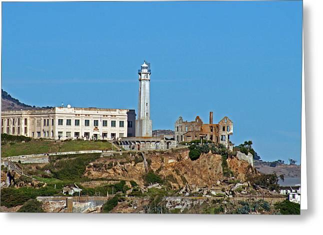 Alcatraz Lighthouse Greeting Cards - Alcatraz Lighthouse Greeting Card by Jake Johnson