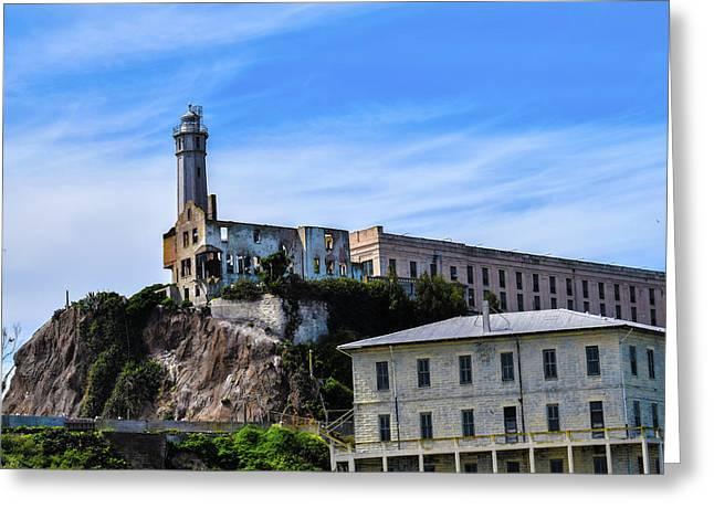 Alcatraz Lighthouse Greeting Card by Jeremy Rickman