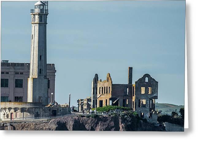 Alcatraz Ruins Greeting Card by Paul Freidlund