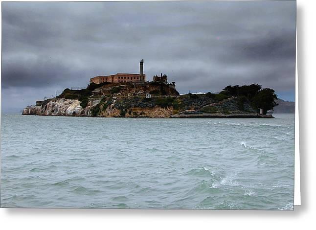 Alcatraz Storm Greeting Card