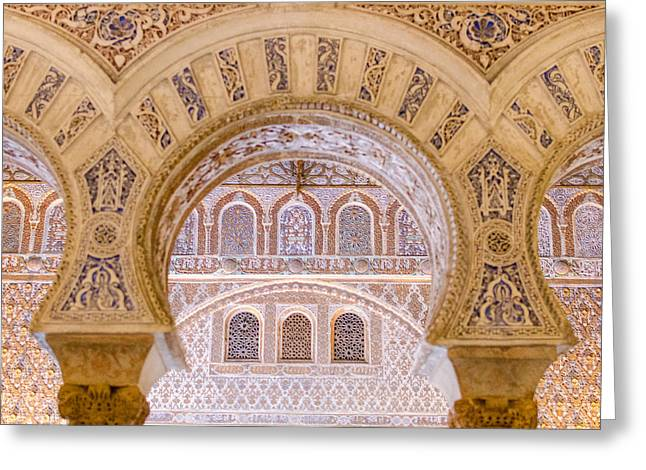 Alcazar Of Seville - Unique Architecture Greeting Card by Andrea Mazzocchetti