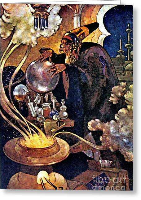 Alchemist 1912 Greeting Card by Padre Art