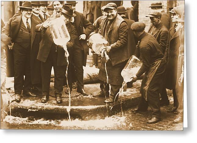 Alcohol Prohibition Era Image Greeting Card