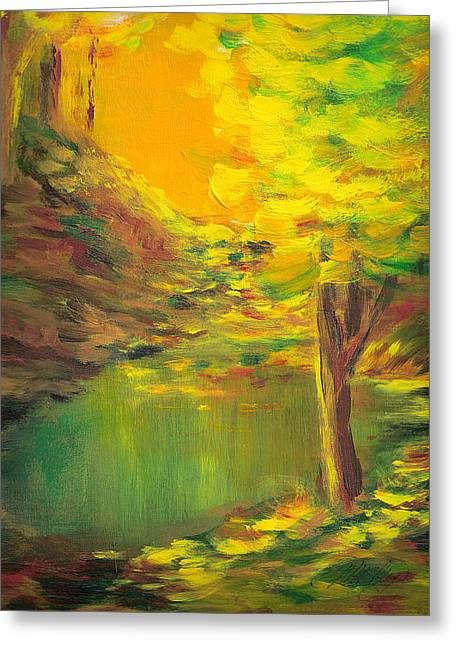 Aldergrove Lake Greeting Card by Vi Mosley