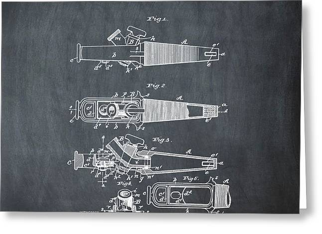 Ale Tap Patent 1893 In Chalk Greeting Card by Bill Cannon