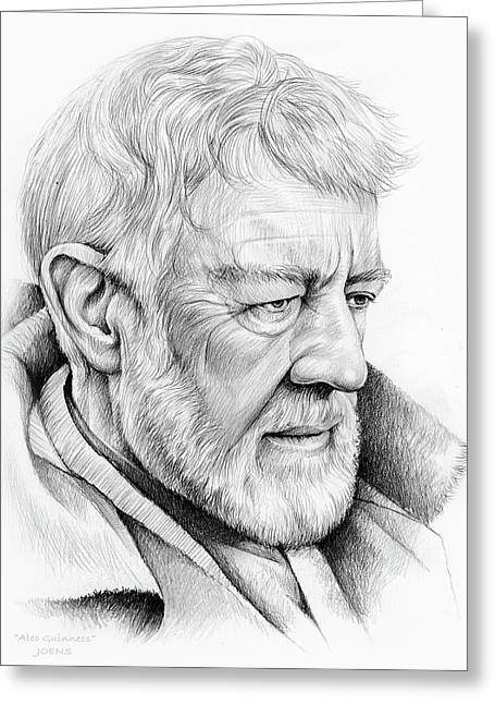 Alec Guinness Greeting Card by Greg Joens