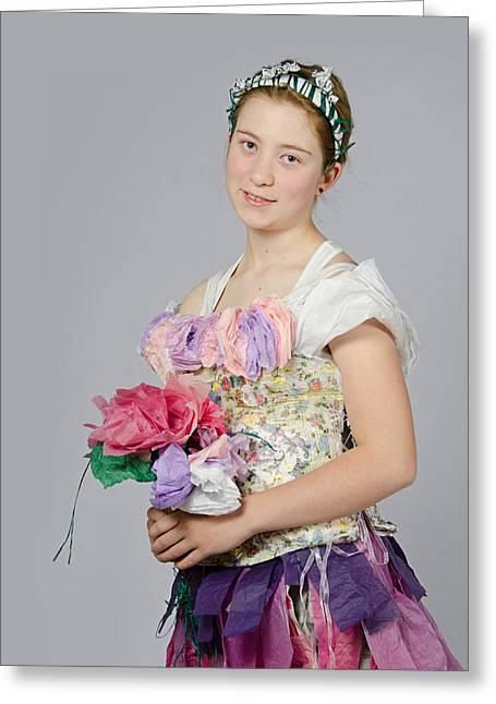 Alegra In Paper Floral Dress Greeting Card