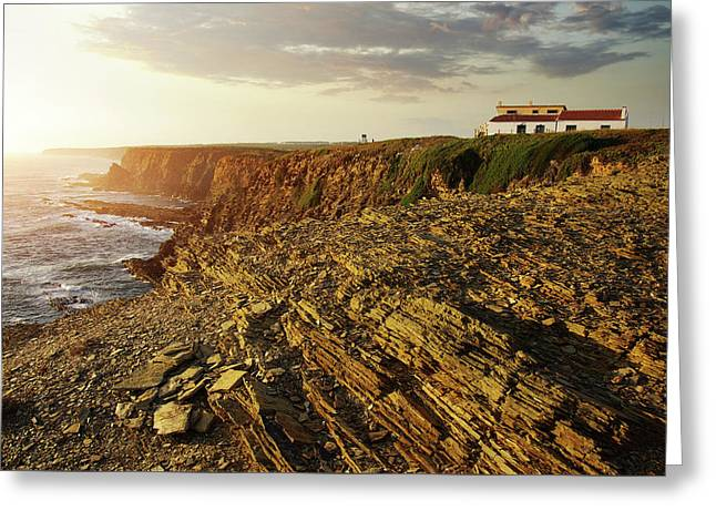 Greeting Card featuring the photograph Alentejo Cliffs by Carlos Caetano