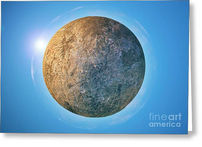 Aleppo 3d Little Planet 360-degree Sphere Panorama Greeting Card by Frank Ramspott