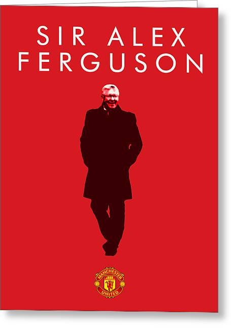 Alex Ferguson Greeting Card