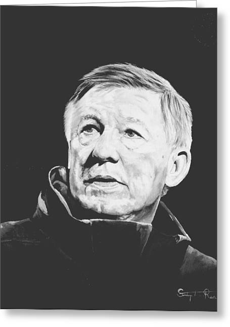 Alex Ferguson Greeting Card by Stephen Rea