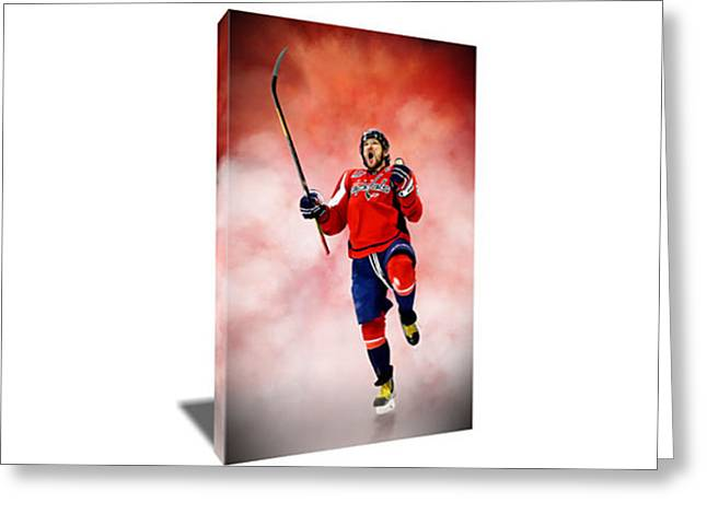 Alex Ovechkin II Canvas Art Greeting Card