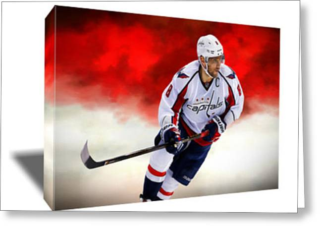 Alex Ovechkin IIi Canvas Art Greeting Card