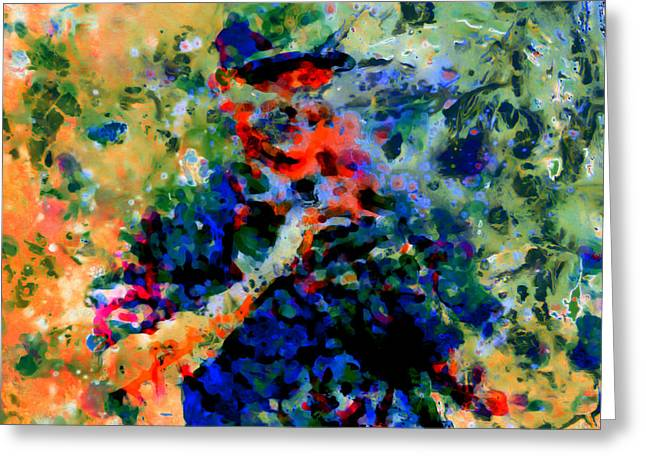 Alex Rodriguez 03f Greeting Card by Brian Reaves