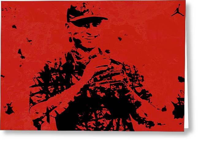 Alex Rodriguez J1 Greeting Card by Brian Reaves